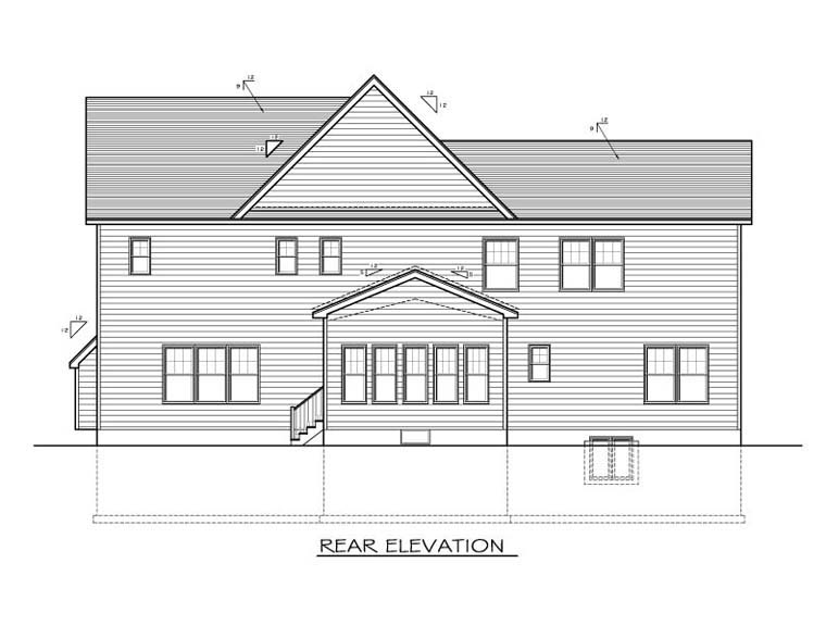 Traditional House Plan 54118 Rear Elevation