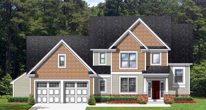 Cape Cod House Plan 54120 Elevation