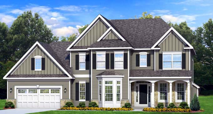 Traditional House Plan 54138 Elevation