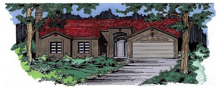 Southwest House Plan 54608 Elevation