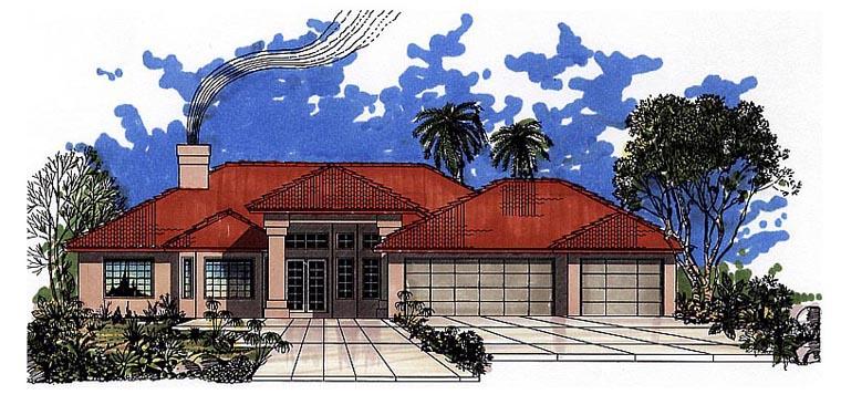 Southwest House Plan 54609 Elevation