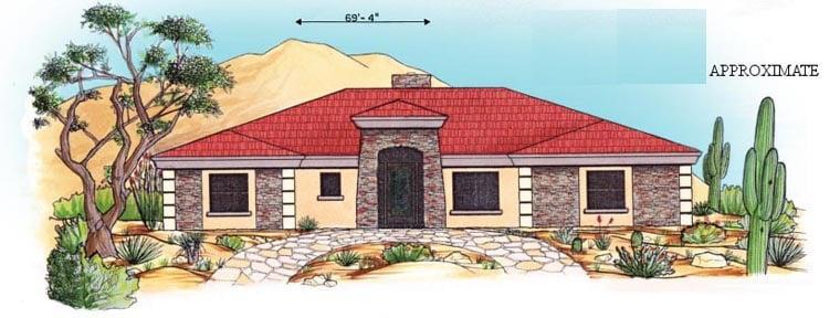Florida House Plan 54621 Elevation