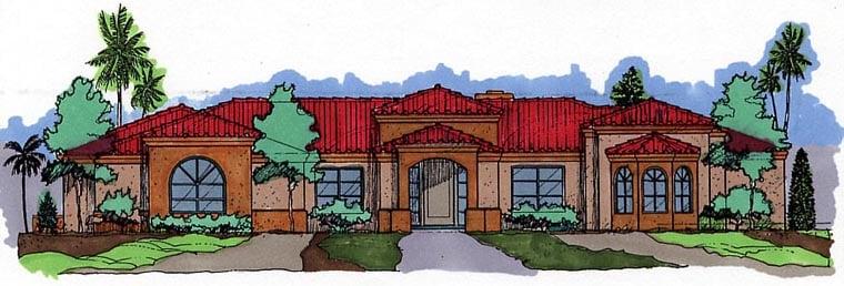 Southwest House Plan 54634 Elevation