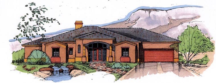 Mediterranean House Plan 54685 Elevation