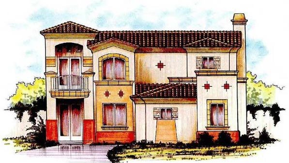 Mediterranean House Plan 54693 Elevation