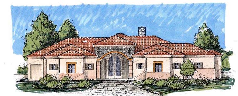 Southwest House Plan 54695 Elevation