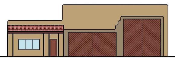 2 Car Garage Apartment Plan 54786, RV Storage Elevation