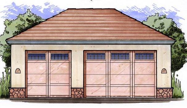 Garage Plan 54796 Elevation