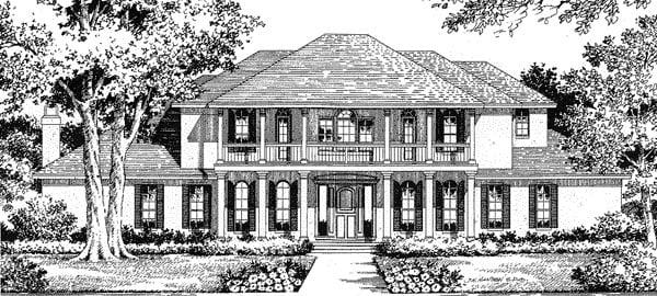 Florida Mediterranean House Plan 54809 Elevation