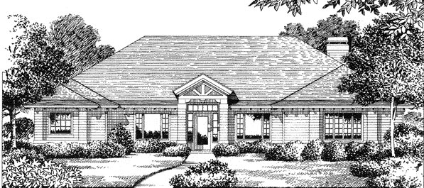 Florida Mediterranean House Plan 54826 Elevation