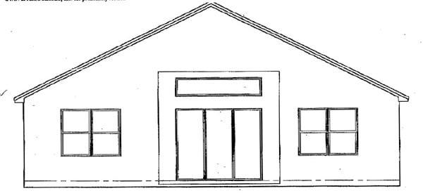 Florida House Plan 54891 Rear Elevation