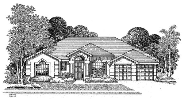 Florida House Plan 54902 Elevation