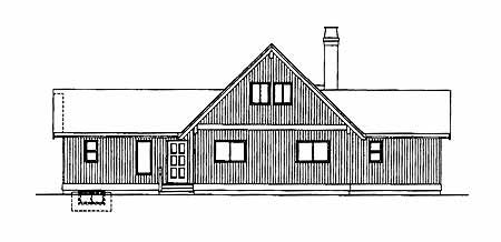 Contemporary House Plan 55009 Rear Elevation