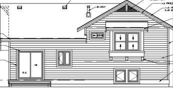 Bungalow Craftsman House Plan 55015 Rear Elevation