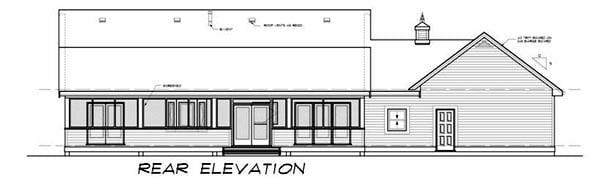 Ranch House Plan 55021 Rear Elevation