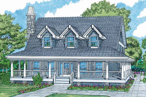 Cape Cod House Plan 55027 Elevation