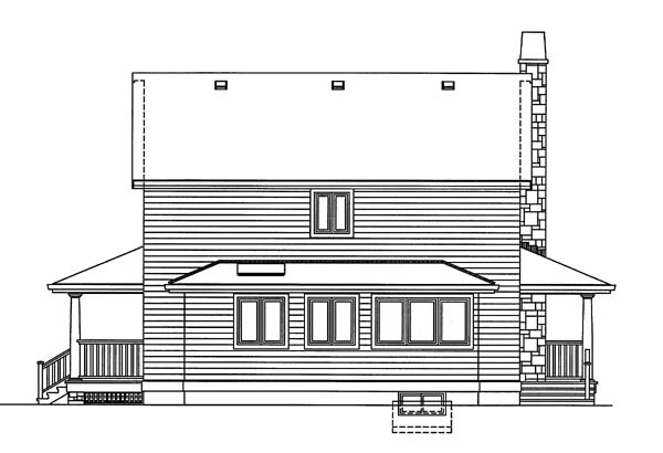 Cape Cod House Plan 55027 Rear Elevation