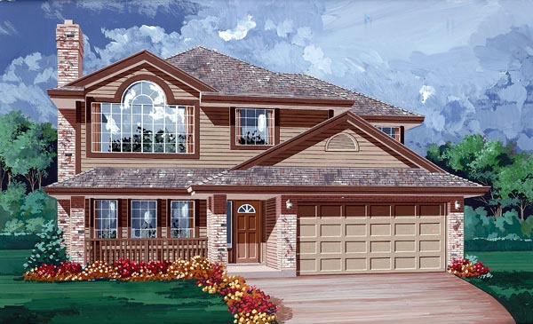 Contemporary House Plan 55055 Elevation