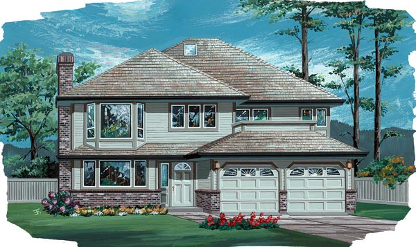 Contemporary House Plan 55056 Elevation