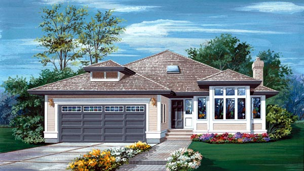 Contemporary House Plan 55058 Elevation