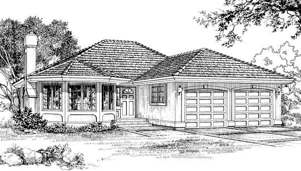 Florida House Plan 55071 Elevation