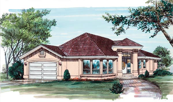 Florida House Plan 55083 Elevation