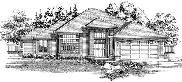 Traditional House Plan 55093 Elevation
