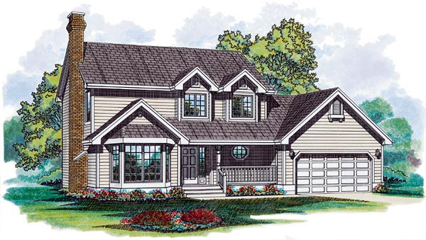 Country House Plan 55116 Elevation