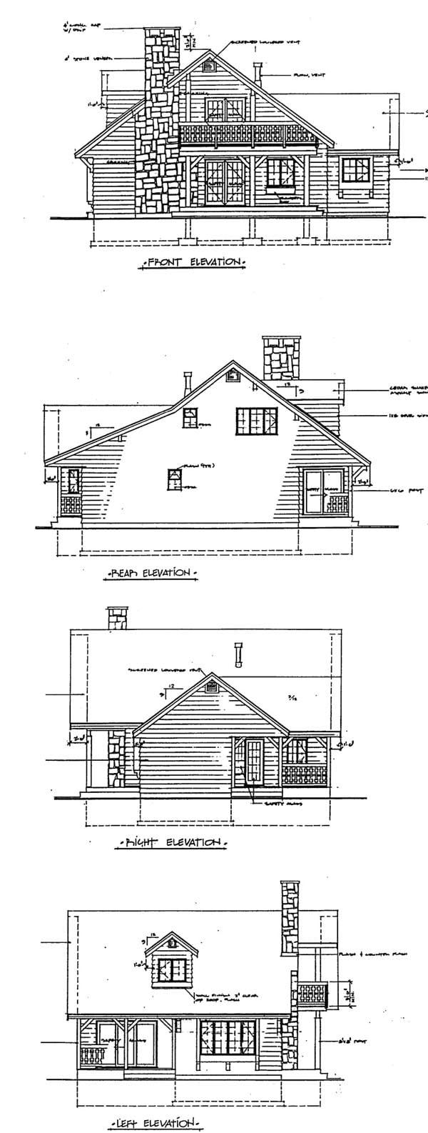 House Plan 55125 Rear Elevation