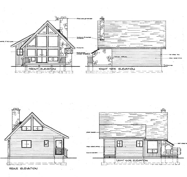 Traditional House Plan 55127 Rear Elevation