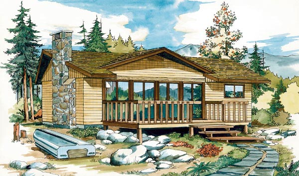 Country House Plan 55131 Elevation
