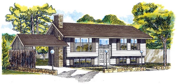 Retro Traditional House Plan 55140 Elevation