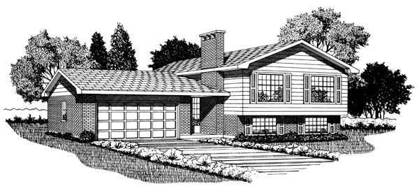 Retro House Plan 55142 Elevation