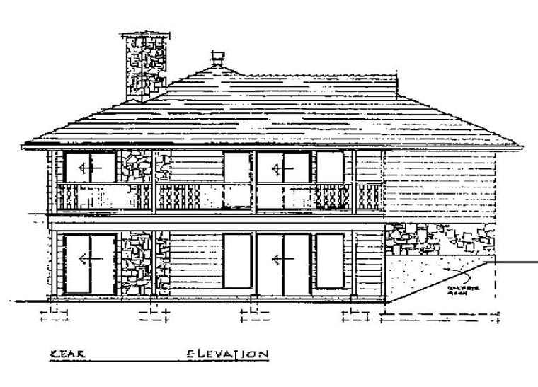 Contemporary House Plan 55147 Rear Elevation