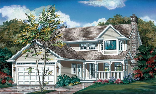 Country House Plan 55158 Elevation