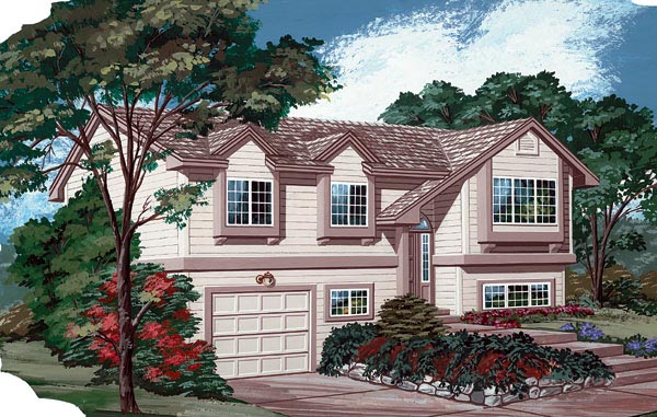 One-Story, Traditional House Plan 55169 with 3 Beds, 2 Baths, 1 Car Garage Elevation