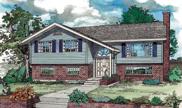 Contemporary Retro House Plan 55187 Elevation