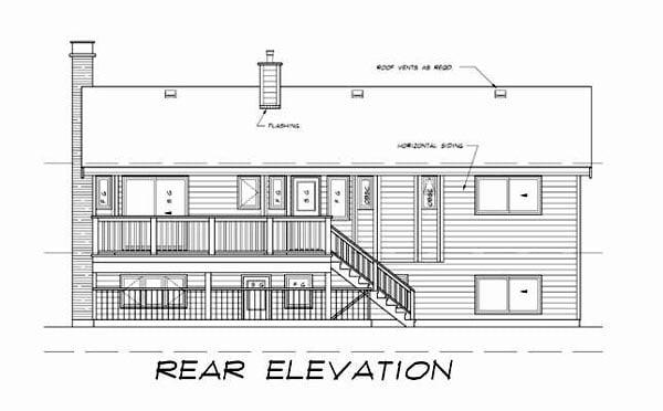Contemporary Retro House Plan 55187 Rear Elevation
