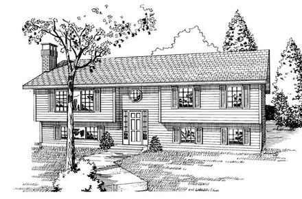 Contemporary House Plan 55191 with 3 Beds, 2 Baths