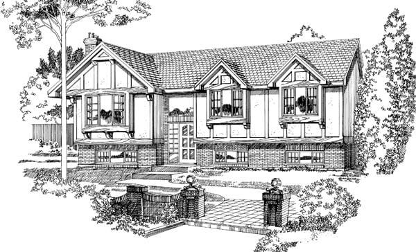Tudor House Plan 55192 Elevation