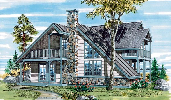 Contemporary House Plan 55213 Elevation