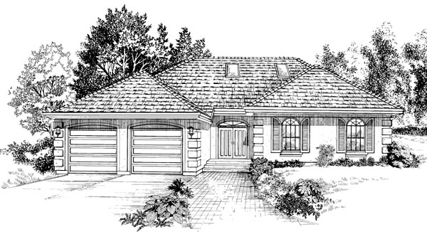 Traditional House Plan 55237 Elevation