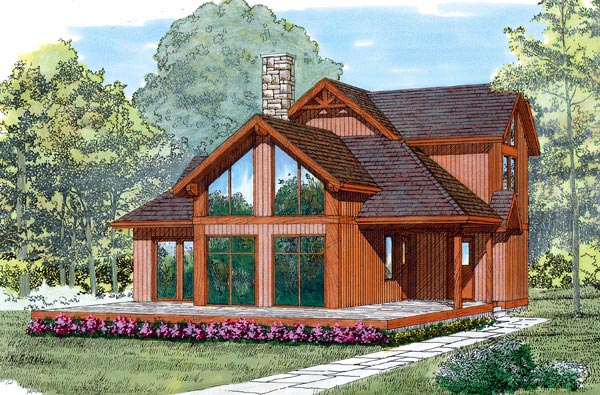 Contemporary House Plan 55238 Elevation
