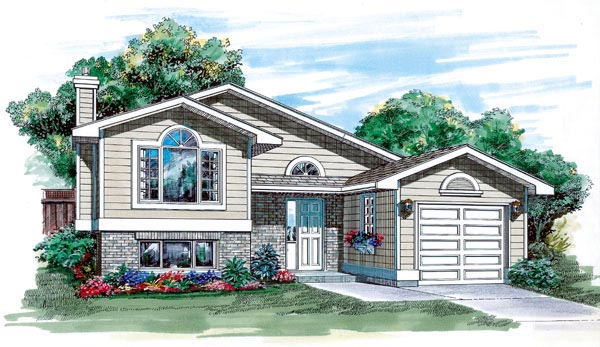 Traditional House Plan 55252 Elevation