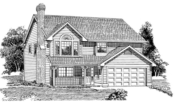 Traditional House Plan 55270 Elevation