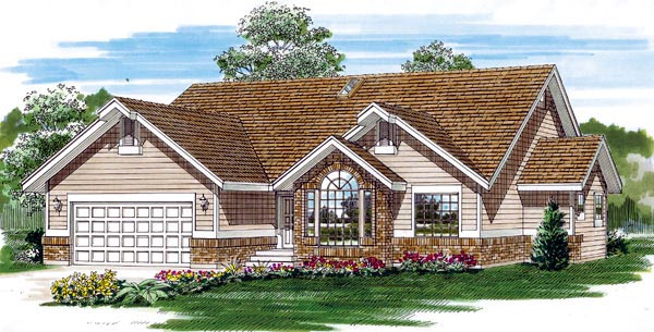 Traditional House Plan 55279 Elevation