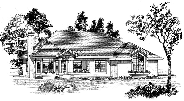Florida House Plan 55284 Elevation