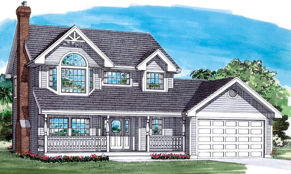 Traditional House Plan 55288 Elevation