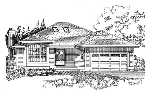 Traditional House Plan 55336 Elevation