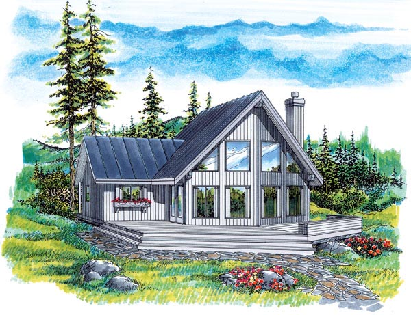 NarrowLot House Plan 55342